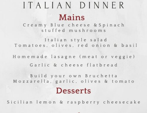 Home Dining Experience – Italian Dinner
